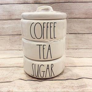 Rae Dunn Coffee Tea Sugar Stacker HTF